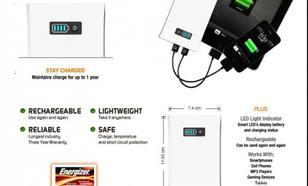 ENERGIZER Akumulator PowerBank XP4003 / 4000mAh/ Apple Ipad iPhone/ Ładowarka Uniwersalna /2-wyjscia