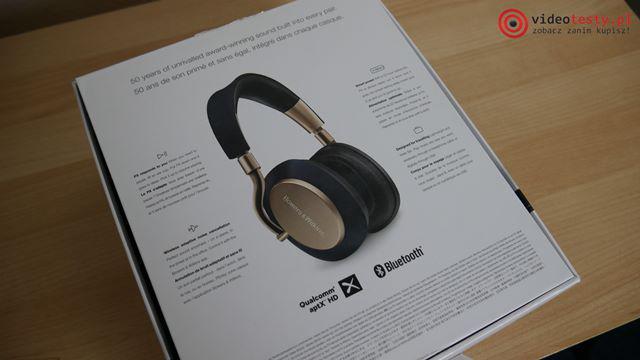 Słuchawki Bowers & Wilkins PX pudełko tył