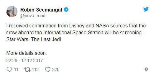 Astronauci golądają Gwiezdne Wojny