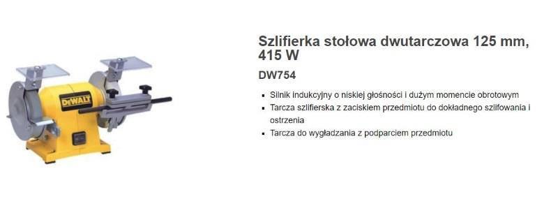 DeWalt DW754 - nie tylko do drewna