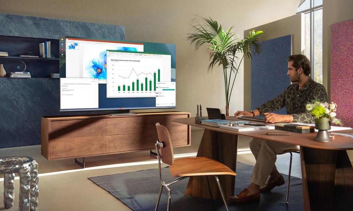 Telewizory Neo QLED zbudownao również z myślą o osobach pracujących z domu