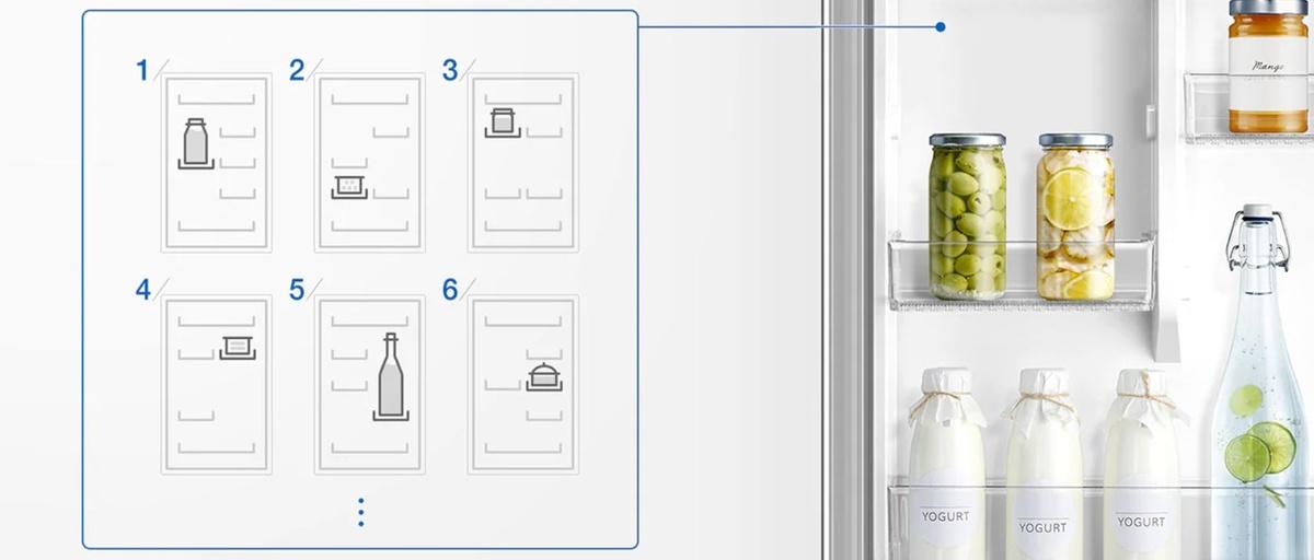 Lodówka Samsung pozwala swobodnie regulować wysokość półek