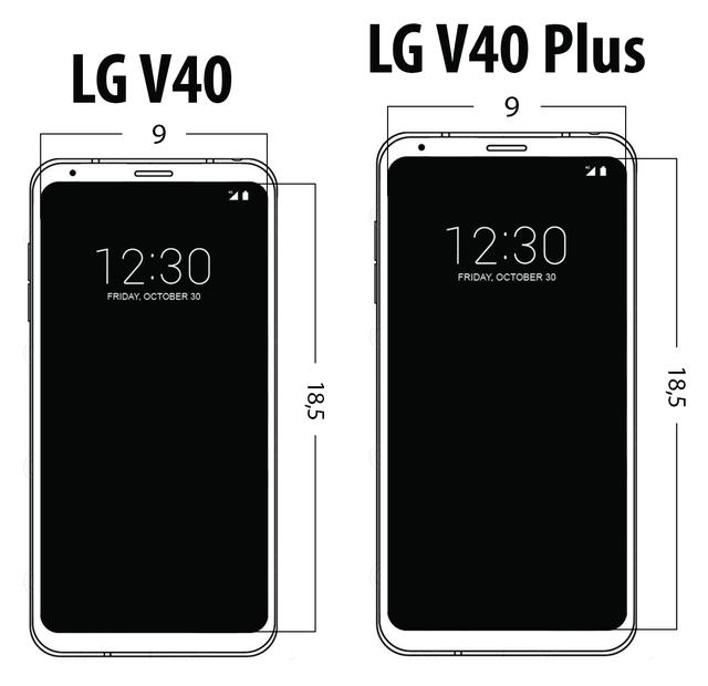 wygląd ekranu LG V40