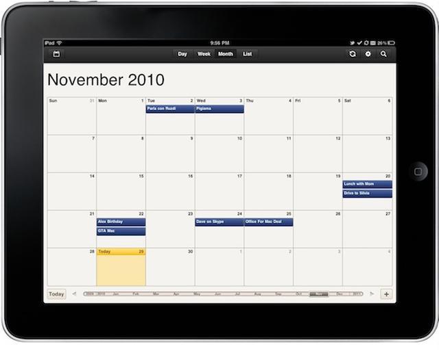 Kalendarz Google Ipad
