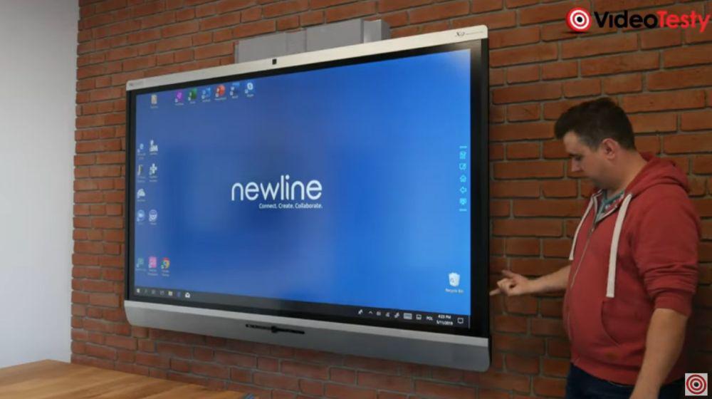 ogromny monitor interaktywny newline