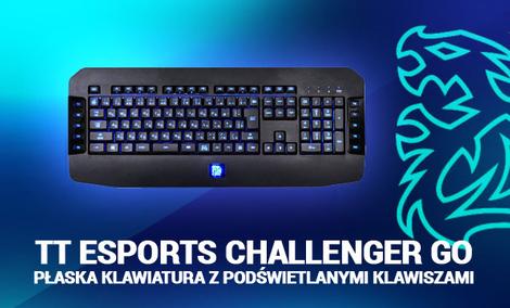 Tt eSports Challenger Go - Płaska Klawiatura z Podświetlanymi Klawiszami