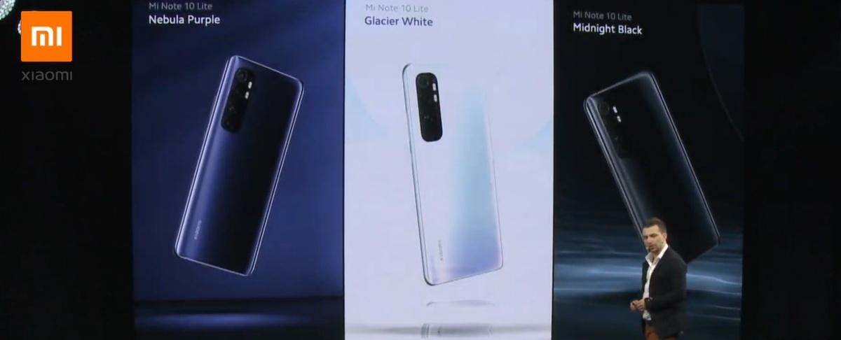 Xiaomi Mi Note 10 Lite pojawi się w trzech kolorach