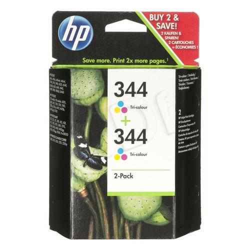 HP Tusz HP344x2=C9505EE, Zestaw 2xKolor, 2xC9363EE