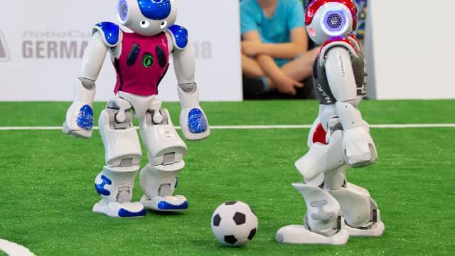 Zobaczcie, jak wyglądały finały piłkarskiej ligi robotów