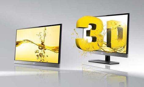 Prawie bez obramowania:  AOC wprowadza superelegancki monitor 3D