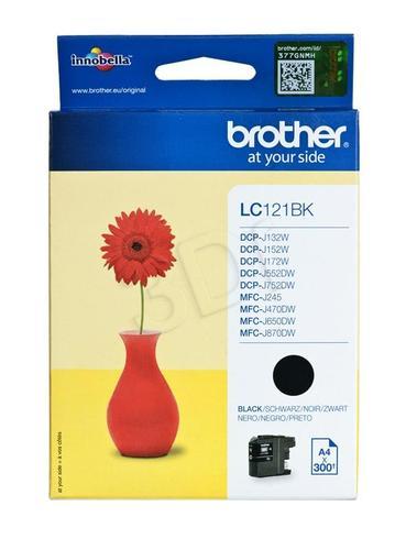 BROTHER Tusz Czarny LC121BK=LC-121BK, 300 str.