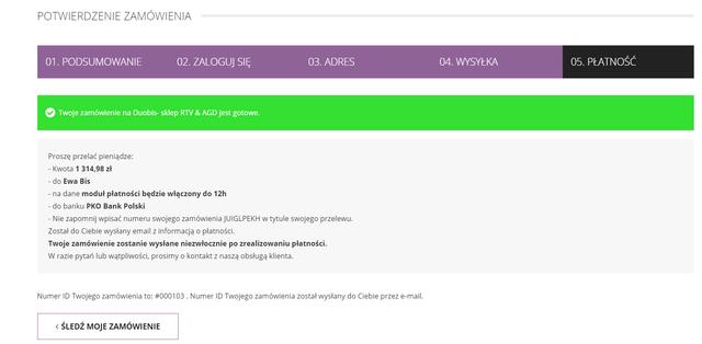 duobis.com - brak bezpiecznego systemu płatności
