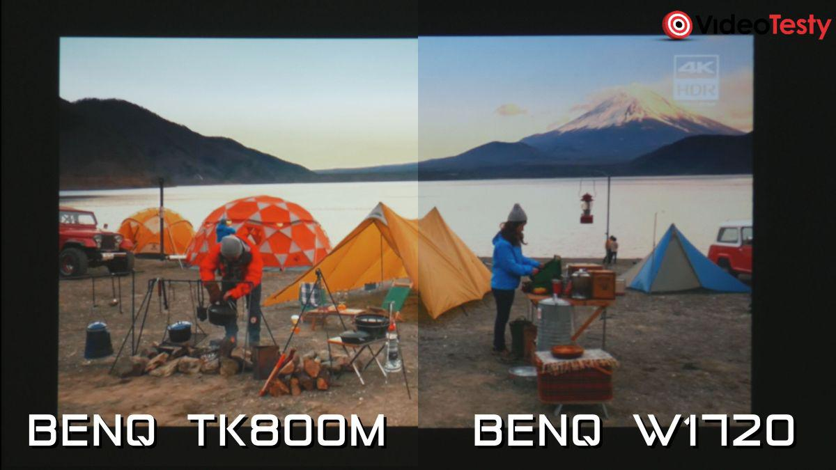 BenQ TK800M i BenQ W1720 porównanie obrazu i kolorów