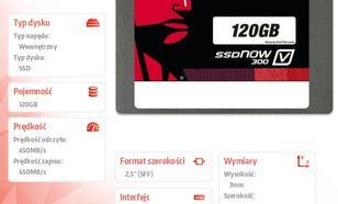 "Kingston V300 SERIES 120GB SATA3 2,5"" 450/450MB/s 7mm"