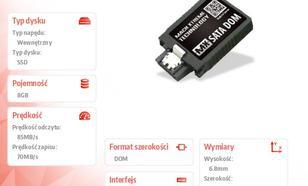 Mach Xtreme SATA DOM SSD 8GB 85/70 MB/s Vertical SLC