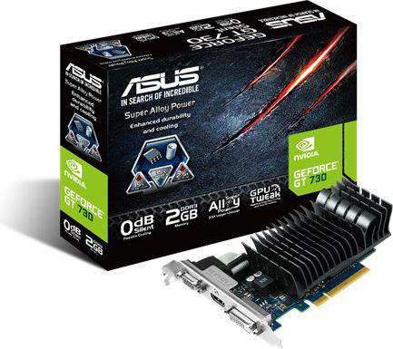 Asus GeForce GT 730 2GB GDDR3 (64 bit) VGA, DVI, HDMI