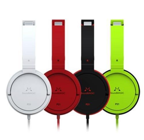 SoundMAGIC P21 białe słuchawki nauszne