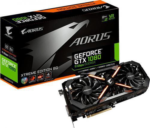 Gigabyte GeForce GTX 1080 AORUS Xtreme Edition 8GB GDDR5X (256 Bit) DVI-D, 3xHDMI, 3xDP, BOX (GV-N1080AORUS X11-8GD)