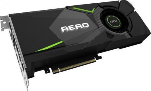 MSI Geforce RTX 2080 AERO 8GB GDDR6 (256 Bit), HDMI, 3xDP, USB-C, BOX