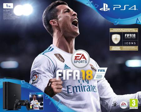prezent na święta dla chłopaka - PS4 Slim + FIFA18
