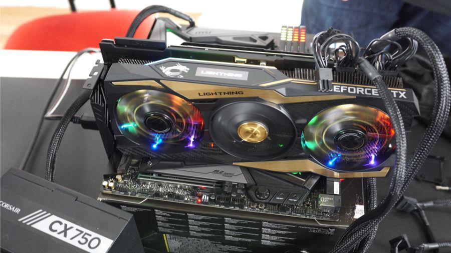 MSI RTX 2080 Ti Lightning Z - wyświetlacz OLED RGB