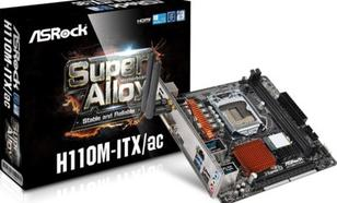 Płyta główna ASRock H110M-ITX/AC, H110, DDR4, SATA3, USB 3.0, mITX