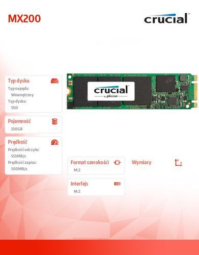 Crucial MX200 250GB M.2 2280SS