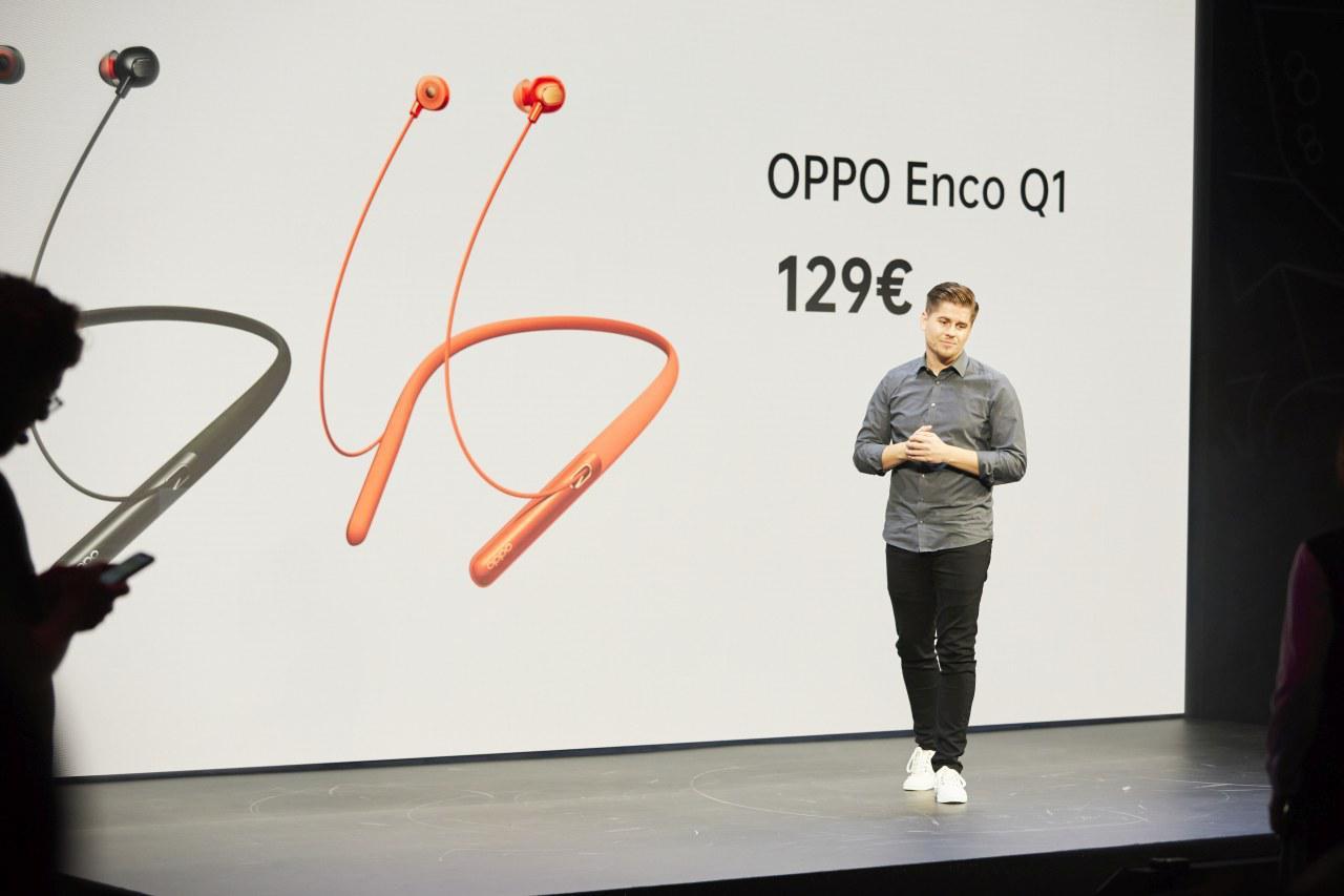 Słuchawki Oppo Enco Q1 zaoferują aktywną redukcję szumów (źródło: Jack Morton, biuro prasowe Oppo)