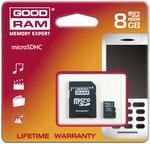 Goodram microSD 8GB Class 10 + adapter