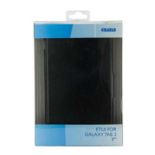 "4World Etui ochronne/Podstawka do Galaxy Tab 2, ECO skóra, 7"", czarne"