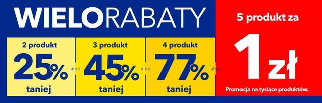 Wielorabaty - wykaz obniżek w zależności od liczby produktów