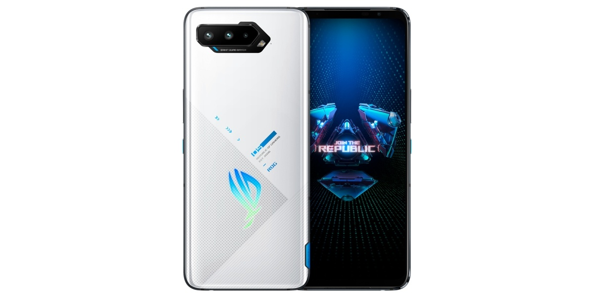 ROG Phone 5 to biała obudowa i szkło z tyłu