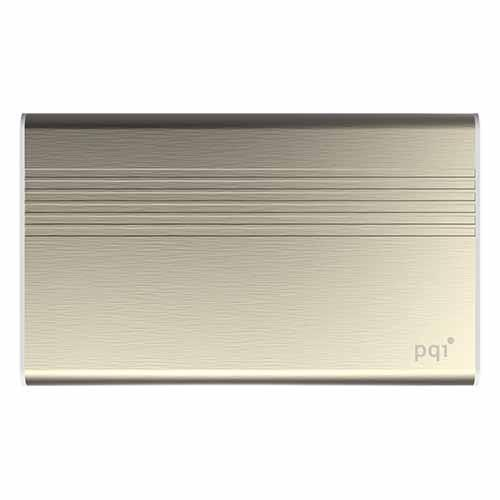 PQI POWER BANK 5000VmAh DUAL-USB 2,4/1,5A, GOLD, ALUMINIOWY