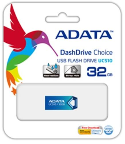 A-Data DashDrive Choice UC510 8GB USB2.0 Niebieski Alu