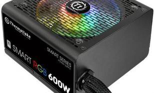 Thermaltake Smart 600W RGB (80+ 230V EU, 2xPEG, 120mm, Single Rail)