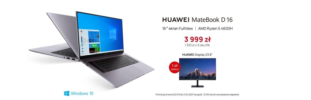 Promocja Huawei obejmuje laptopa i monitor