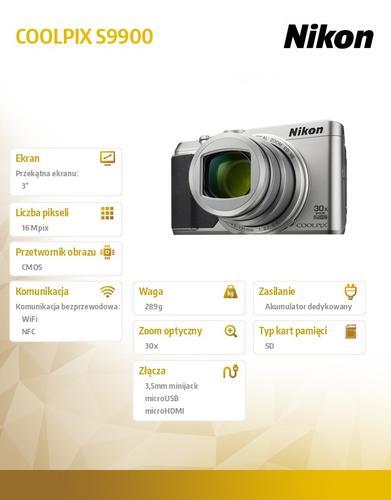 Nikon S9900 silver