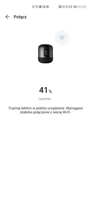 Po podaniu hasła do Wi-Fi następuje połączenie