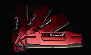 G.SKILL DDR4 RipjawsV 64GB (4x16GB) 2400MHz CL15-15-15 XMP2 Red