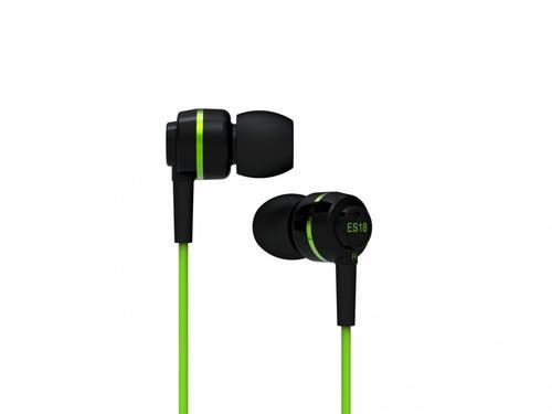 SoundMAGIC ES18 Black-Green Słuchawki Dokanałowe