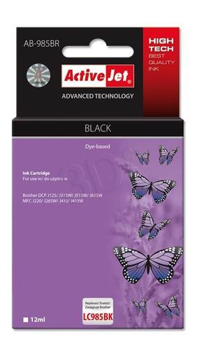 ActiveJet AB-985BR tusz czarny do drukarki Brother (zamiennik Brother LC985BK) Premium