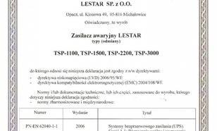 Lestar UPS TSP-1100 Sinus LCD 6xIEC USB RS RJ 45