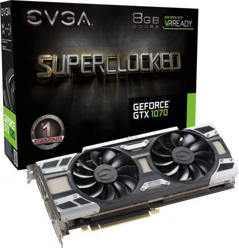 EVGA GeForce GTX1070 SC Gaming 8GB GDDR5 (256 bit) 3x DP, DVI-D, HDMI, BOX (08G-P4-6173-KR)