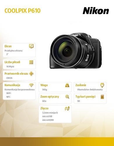 Nikon P610 black