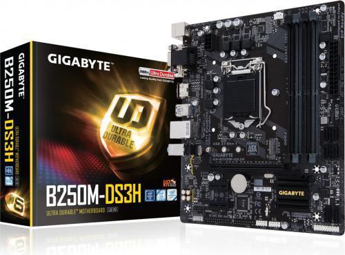 Płyta główna Gigabyte GA-B250M-DS3H, B250, DDR4, HDMI, DVI, VGA, mATX