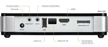 Vivitek QUMI Q5 biały DLP/ WXGA/ HD720p/ 500ANSI