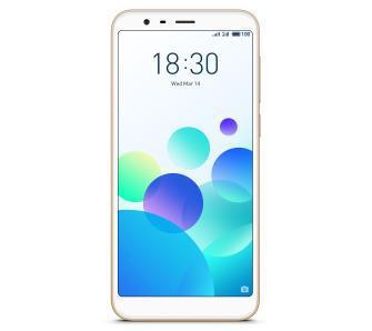Meizu M8C 16GB (złoty) + powerbank 10 000 mAh + etui + folia na ekran