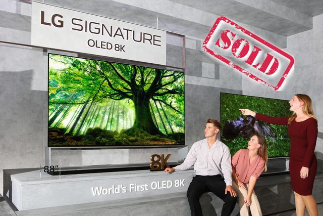 Pierwszy telewizor LG OLED 8K został sprzedany w Polsce za 130 000 zł