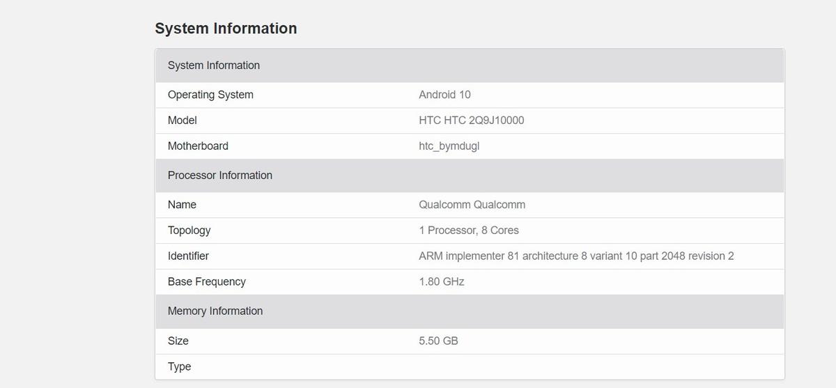 HTC Desire 20 Pro dostanie procesor Qualcomma