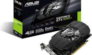 Asus GeForce GTX 1050 TI 4GB GDDR5 (128 Bit) DVI-D, HDMI, DP, BOX (PH-GTX1050TI-4G)